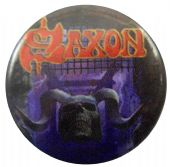 Saxon - 'Battering Ram' Button Badge